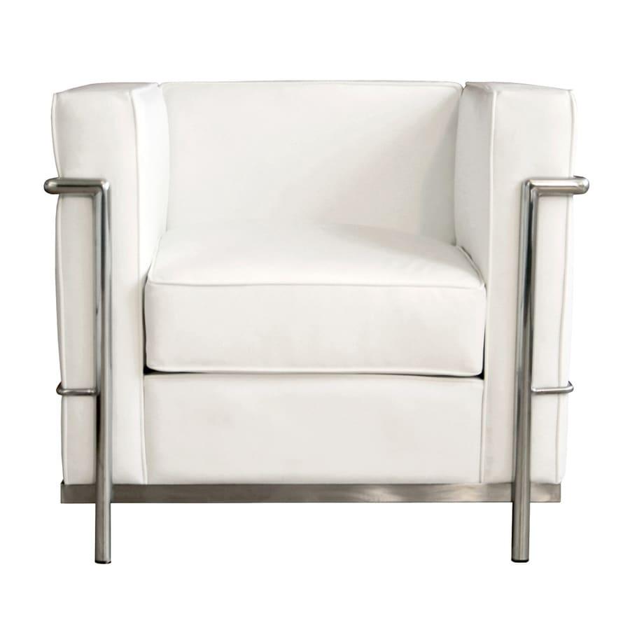 Baxton Studio Le Corbusier Petite Modern White Leather ...