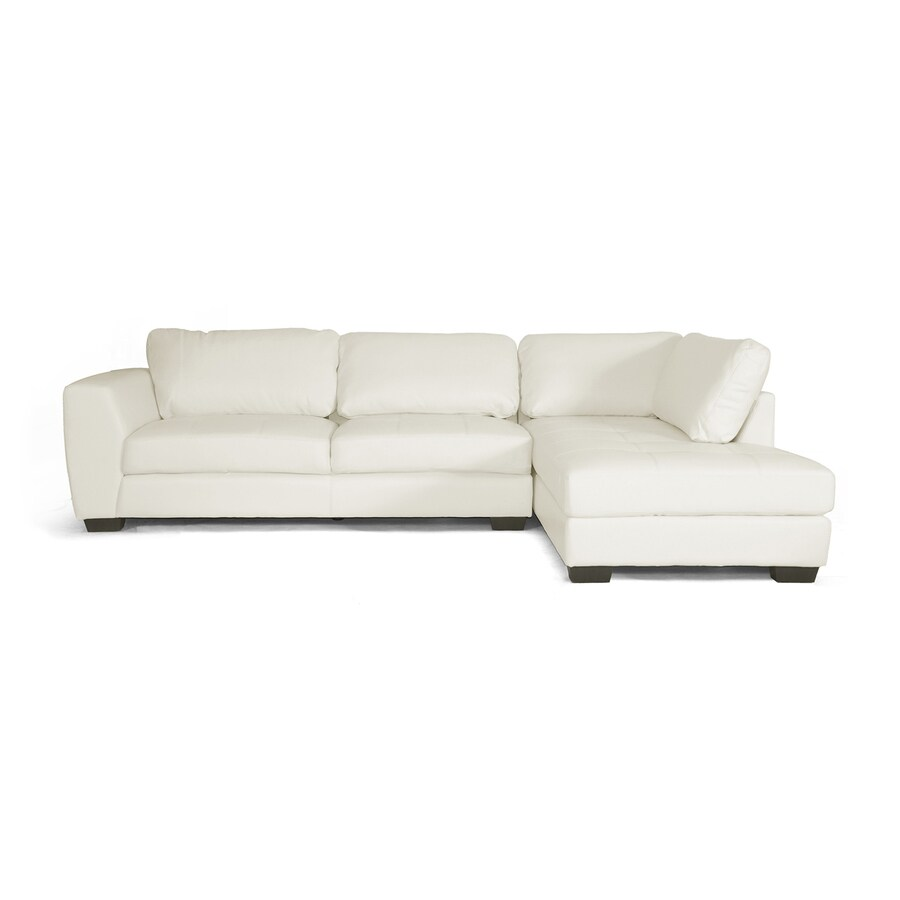 Baxton Studio Orland Casual White Faux Leather Sectional