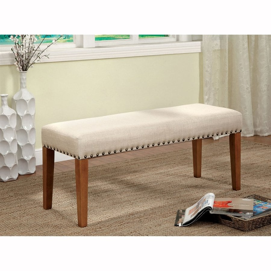 Furniture of America Walsh Ivory Dining Bench