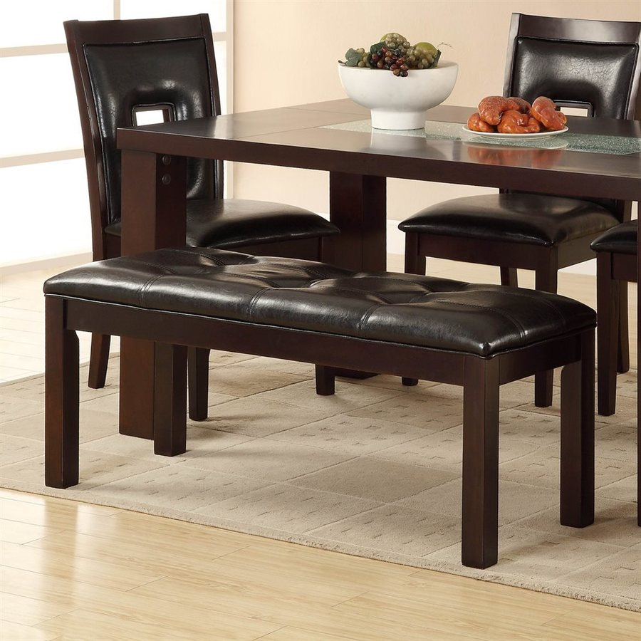 Shop homelegance lee black dining bench at for Dining room tables lowes