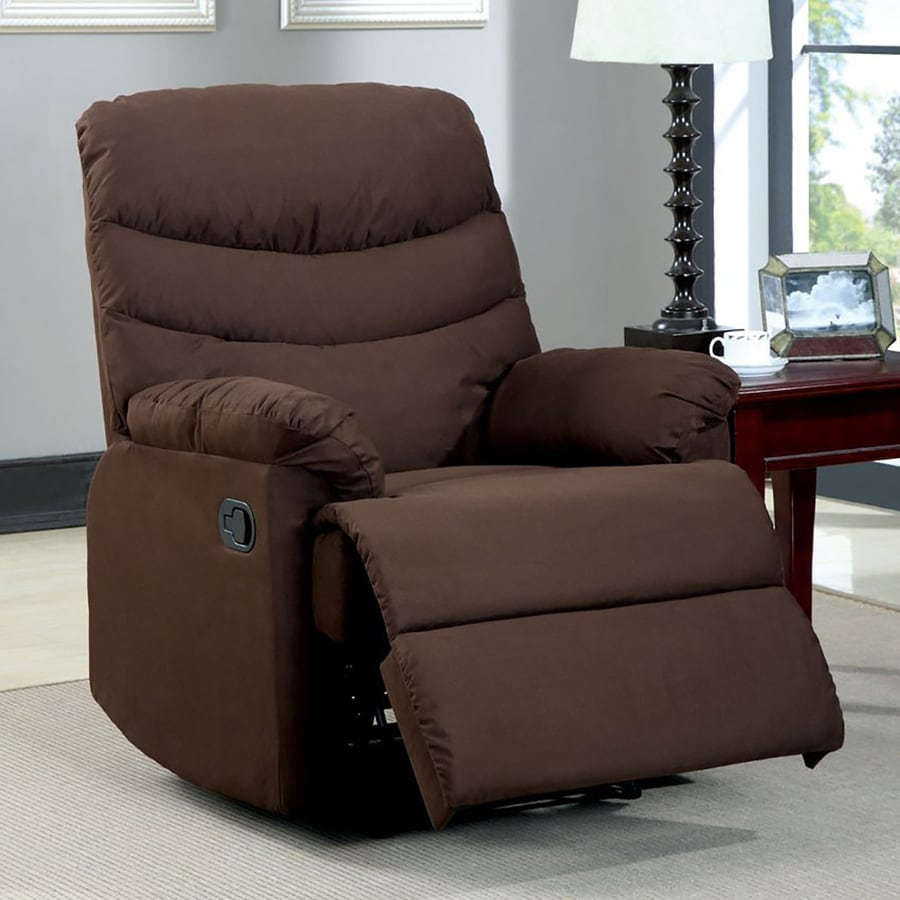 Furniture of America Pleasant Valley Brown Microfiber Recliner
