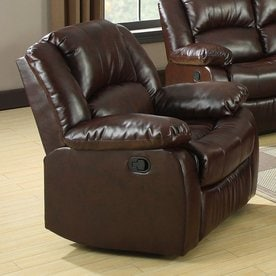 Furniture of America Winslow Rustic Brown Bonded Leather Recliner & Shop Recliners at Lowes.com islam-shia.org