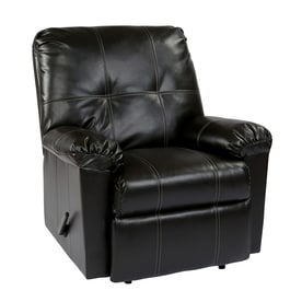 office star kensington faux leather recliner - Black Leather Recliner