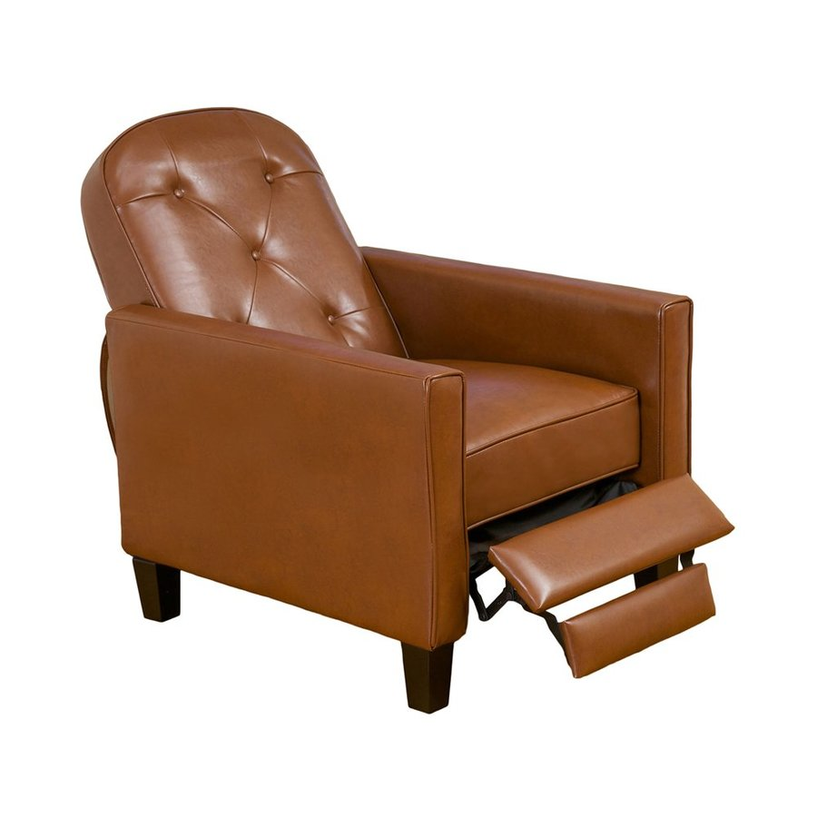 Best Selling Home Decor Johnstown Hazelnut Faux Leather Recliner