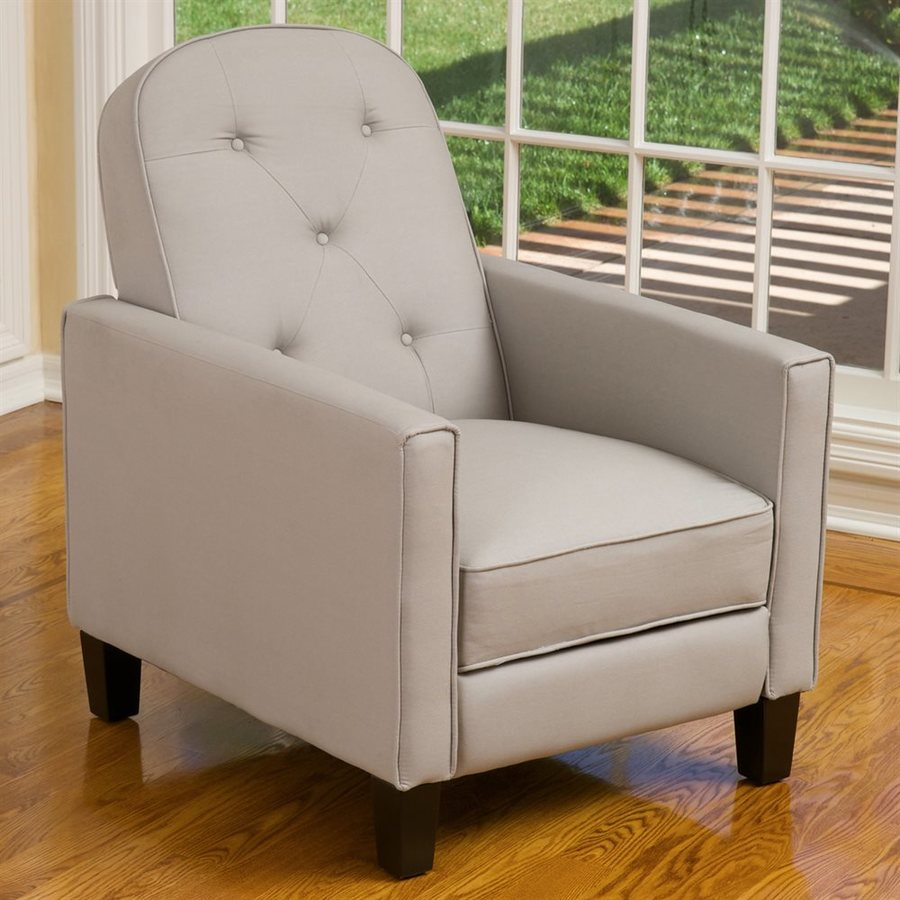 Best Selling Home Decor Johnstown Beige Faux Leather Recliner