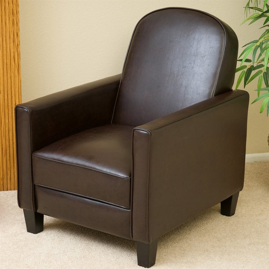 Best Selling Home Decor Johnstown Brown Faux Leather Recliner