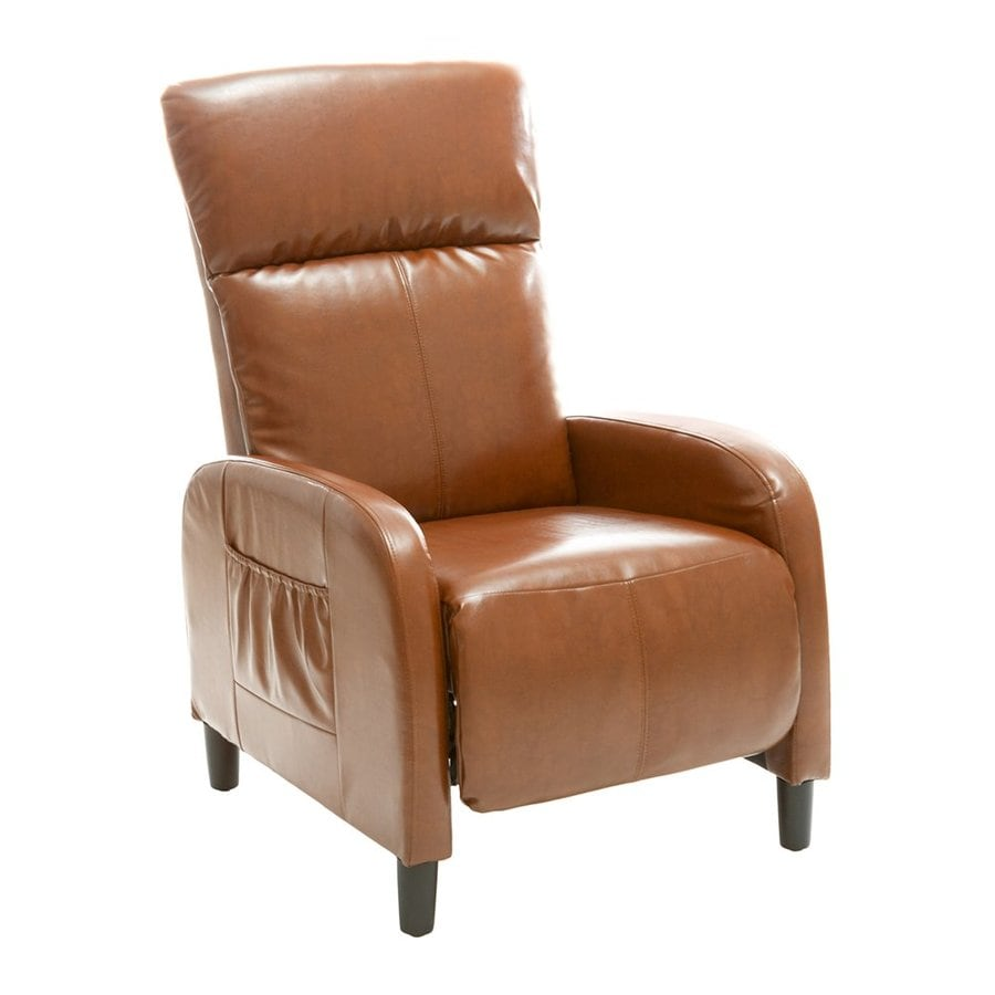Best Selling Home Decor Stratton Tan Faux Leather Recliner  sc 1 st  Loweu0027s & Shop Best Selling Home Decor Stratton Tan Faux Leather Recliner at ... islam-shia.org