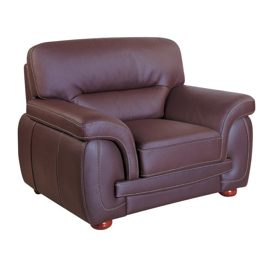 Beverly Hills Furniture Sienna Casual Brown Leather Club Chair