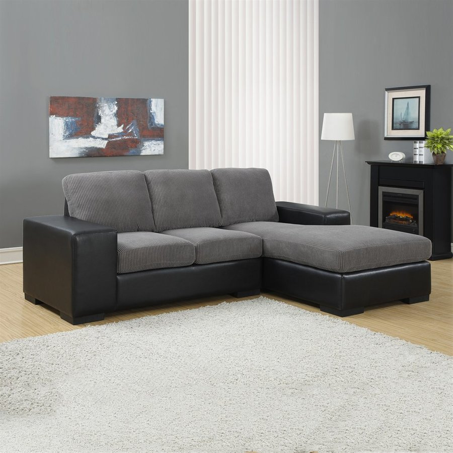 Monarch Specialties Modern Charcoal Grey Sectional