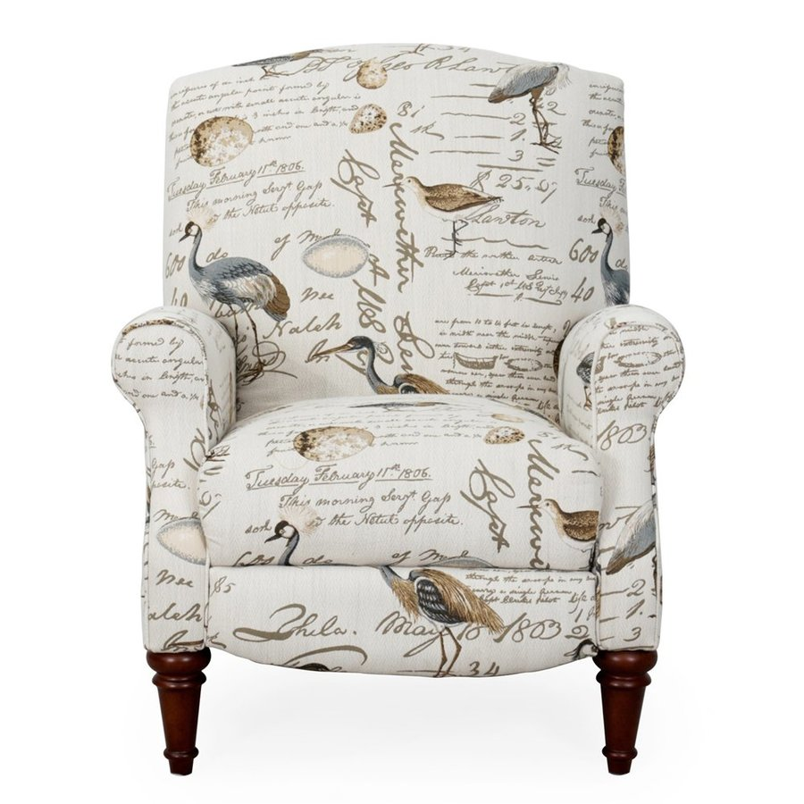 Sunset Trading Bird Script Synthetic Recliner
