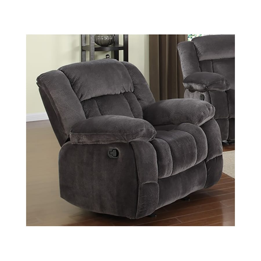 Sunset Trading Madison Charcoal Microsuede Recliner