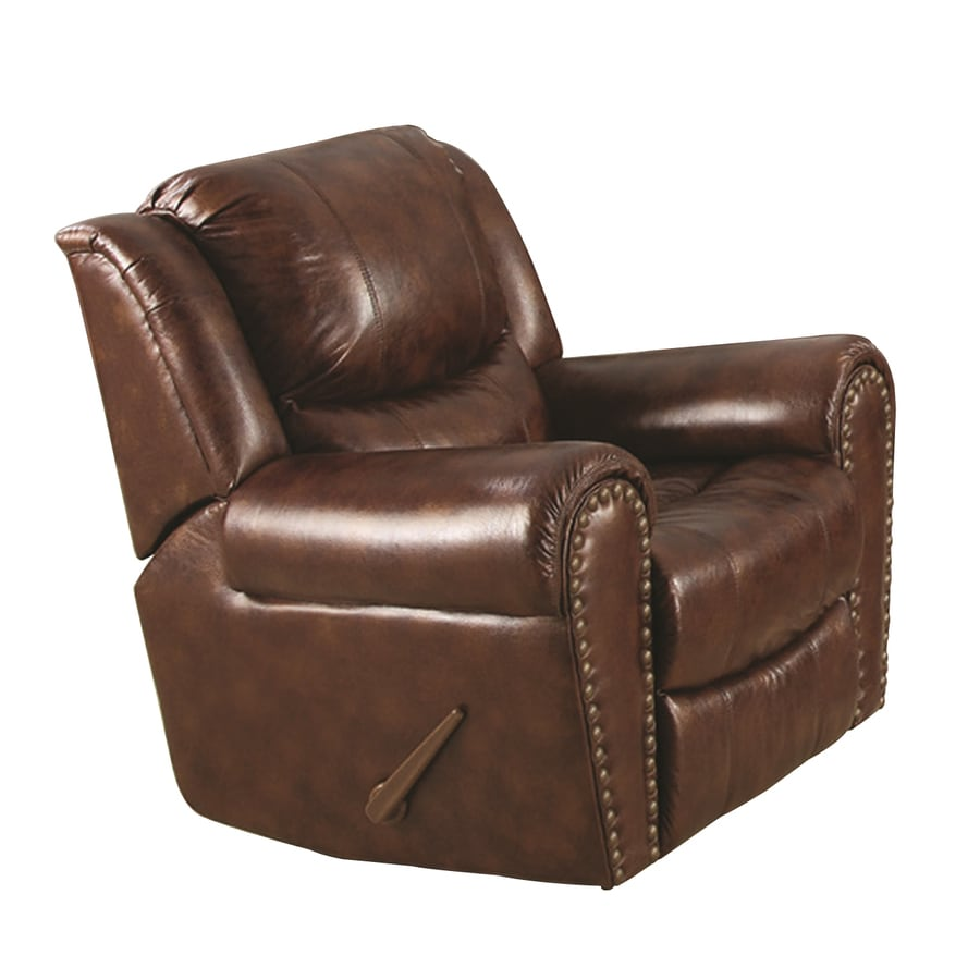Sunset Trading Oxford Brown Faux Leather Recliner