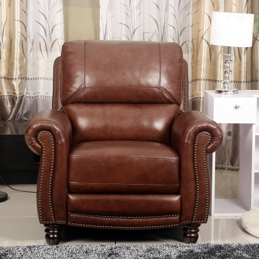 Pacific Loft Aron Brown Leather Recliner