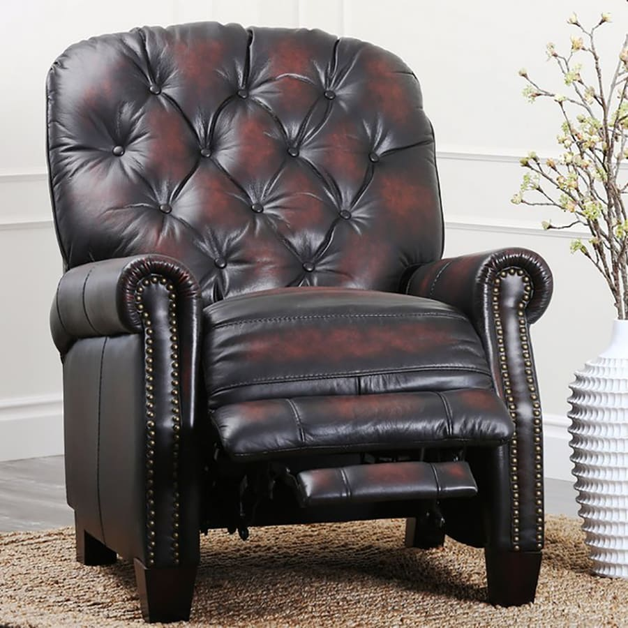 Pacific Loft Amden Brown Leather Recliner