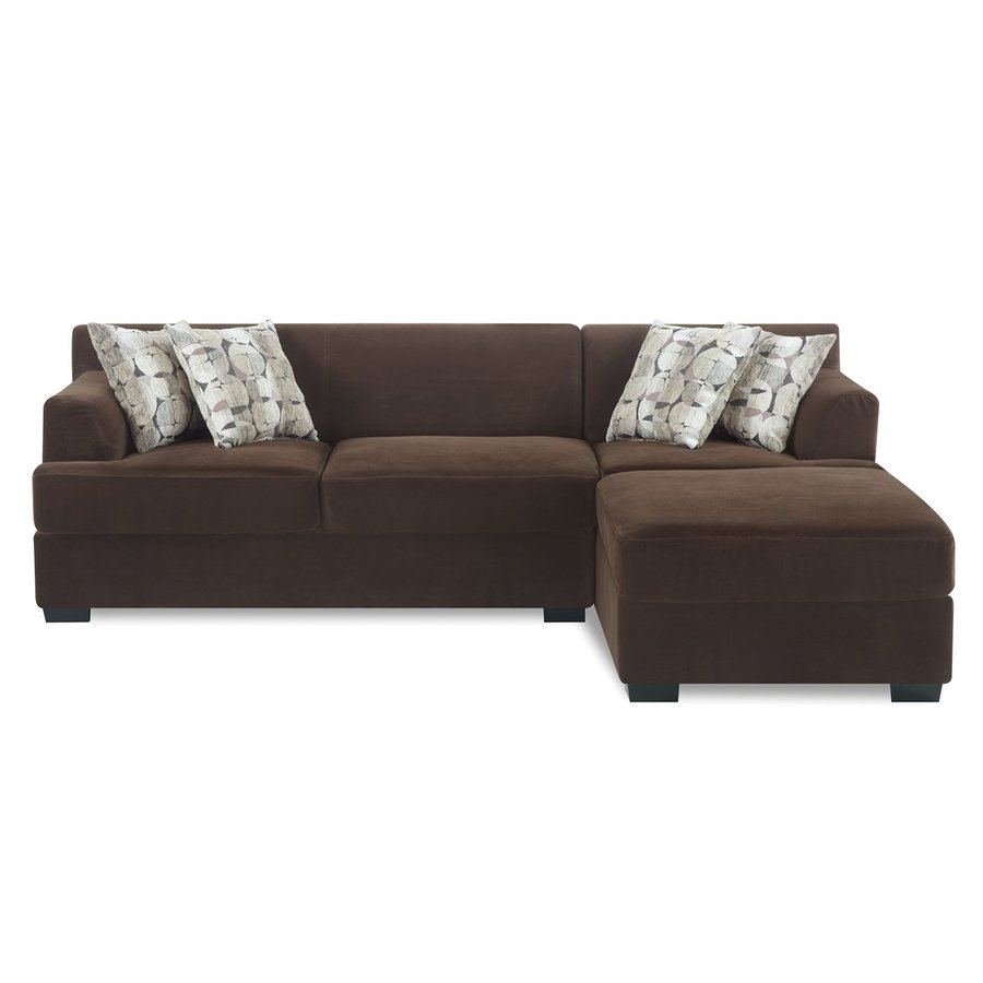 Poundex Banford Casual Chocolate Velvet Sectional