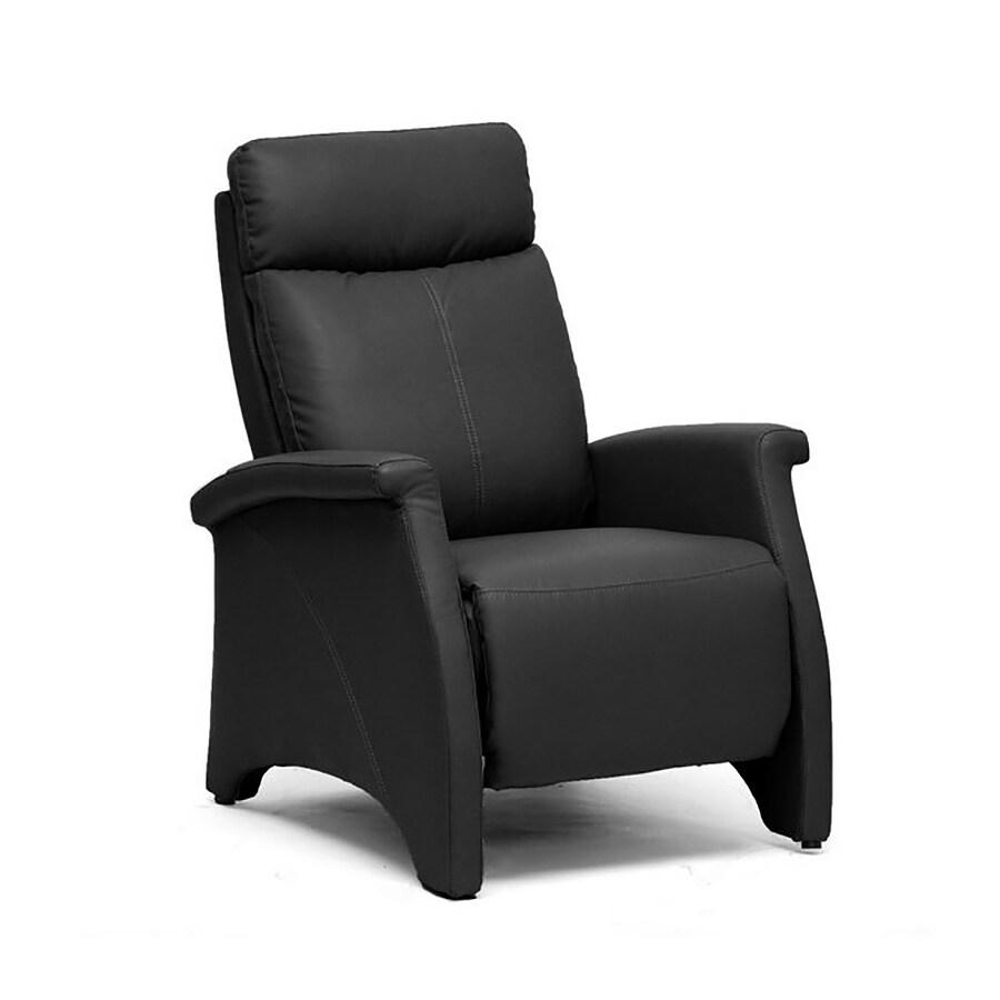 Baxton Studio Aberfeld Black Faux Leather Recliner