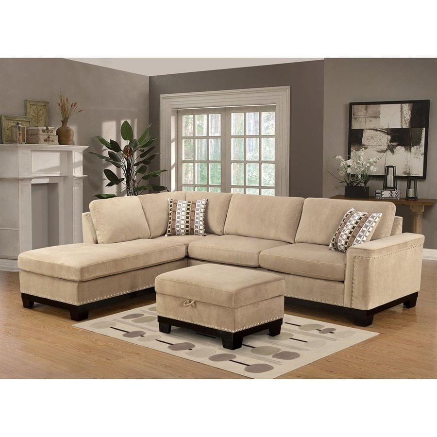 William's Home Furnishings Yosemite Casual Beige Microfiber Sectional