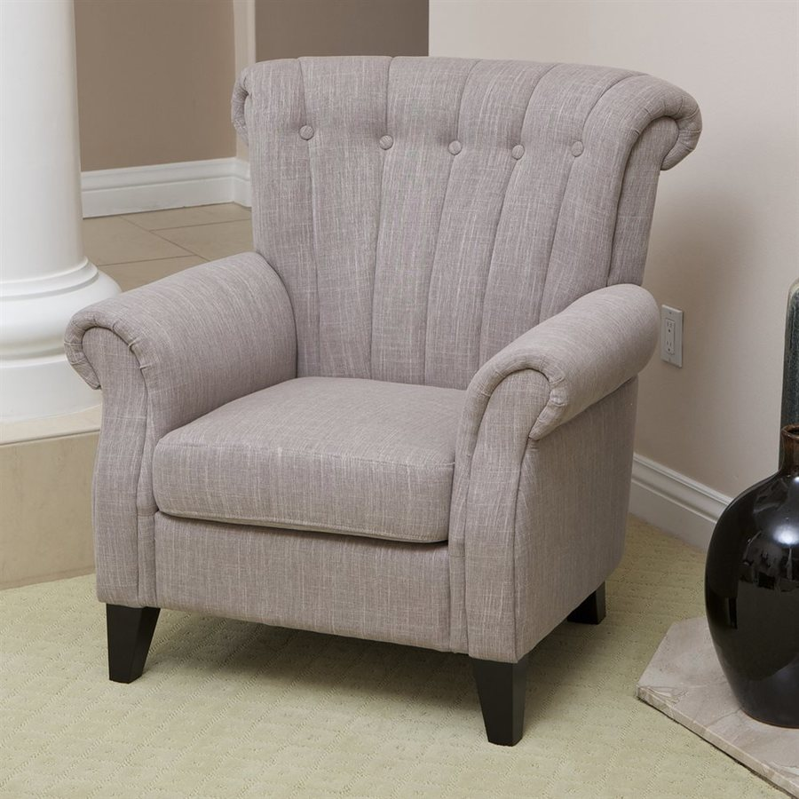 Best Selling Home Decor Waldorf Casual Light Mocha Linen Club Chair