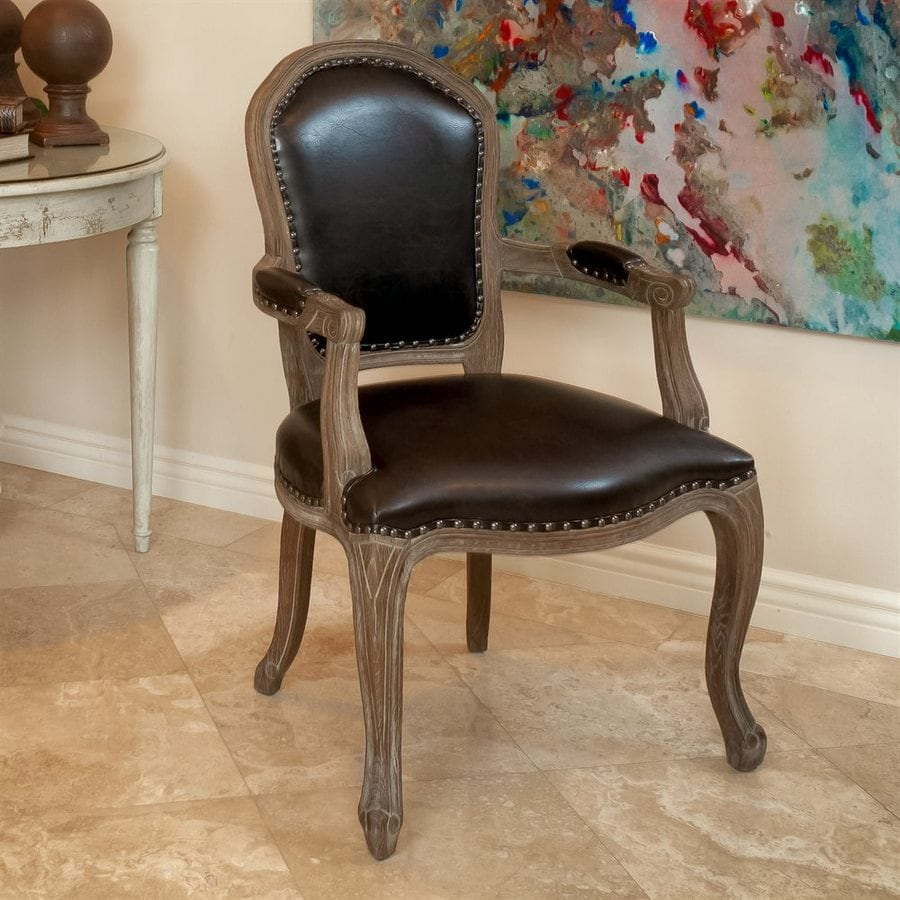 Best Selling Home Decor Maryland Brown Faux Leather Accent Chair