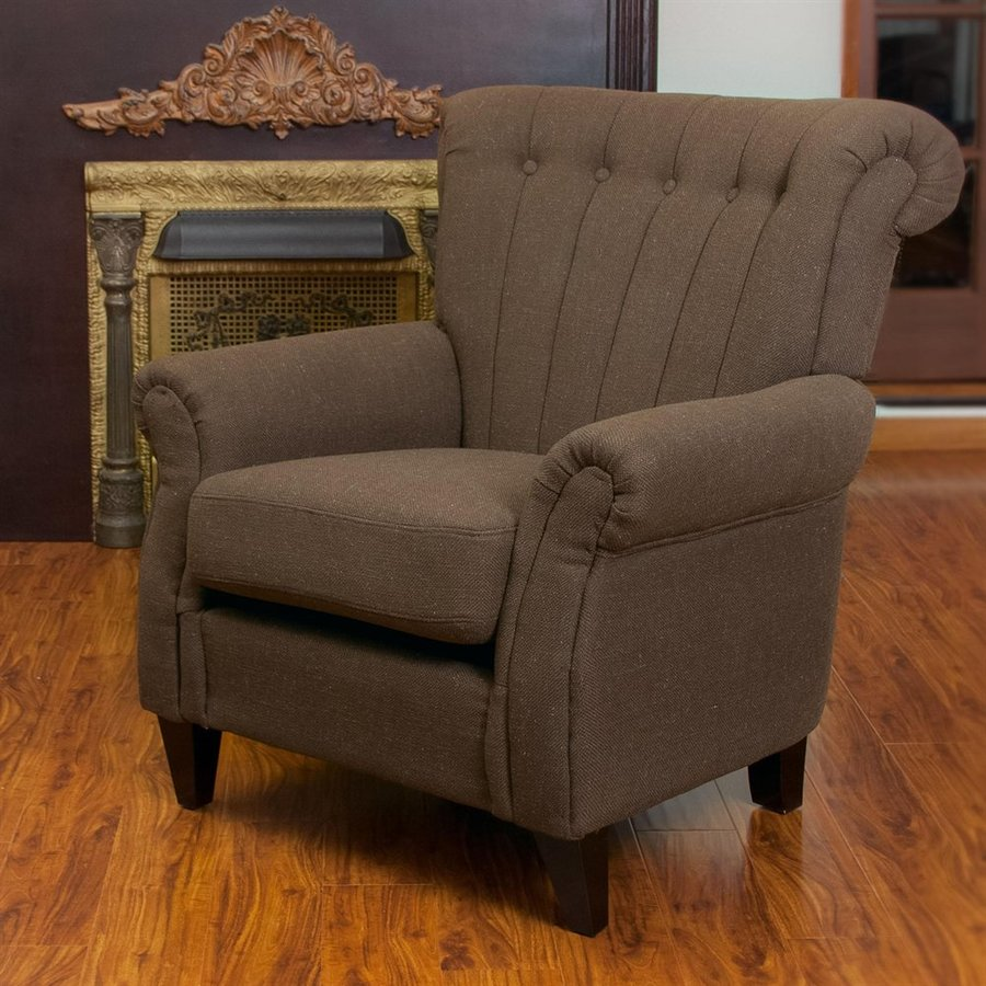 Best Selling Home Decor Waldorf Casual Chocolate Linen Club Chair