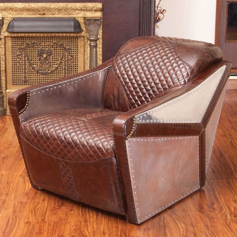 Best Selling Home Decor Jetta Modern Brown Leather Club Chair