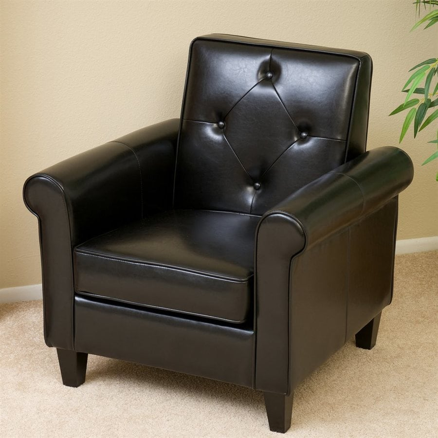 Best Selling Home Decor Huntley Casual Black Faux Leather Club Chair