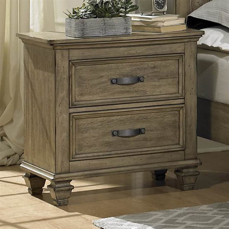Homelegance Sylvania Driftwood Asian Hardwood Nightstand