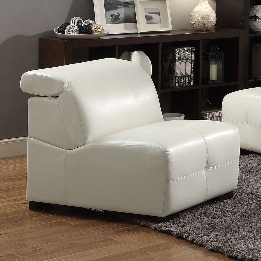Coaster Fine Furniture Darby Casual White Faux Leather Accent Chair