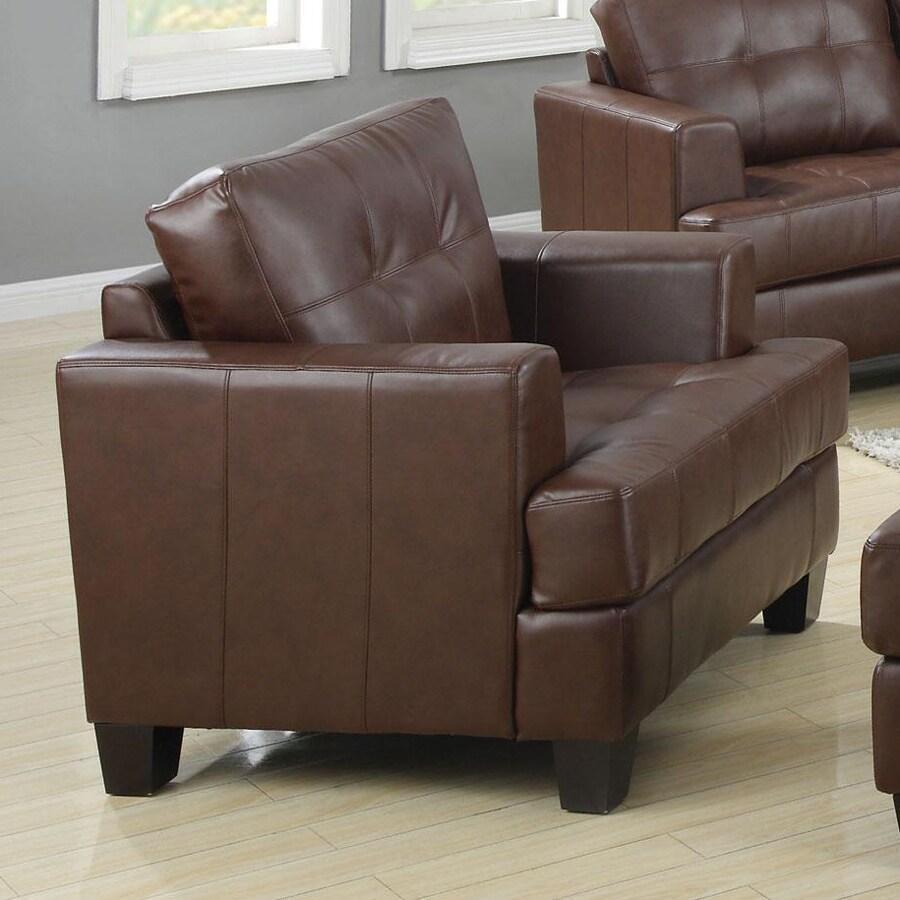 Coaster Fine Furniture Samuel Casual Dark Brown Faux Leather Club Chair