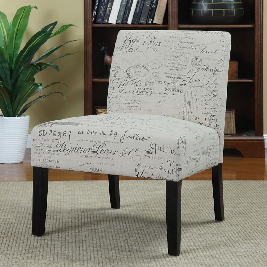 Coaster Fine Furniture Casual French Script Linen Slipper Chair