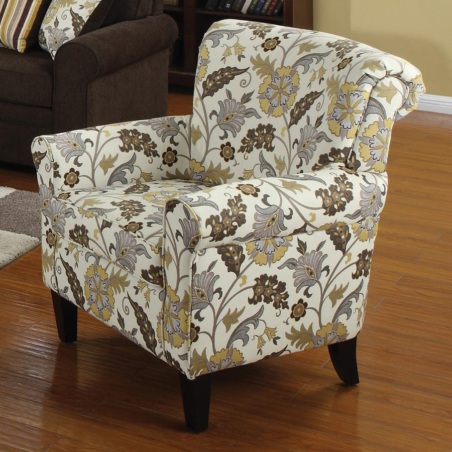 Coaster Fine Furniture Casual Yellow/Brown Floral Club Chair