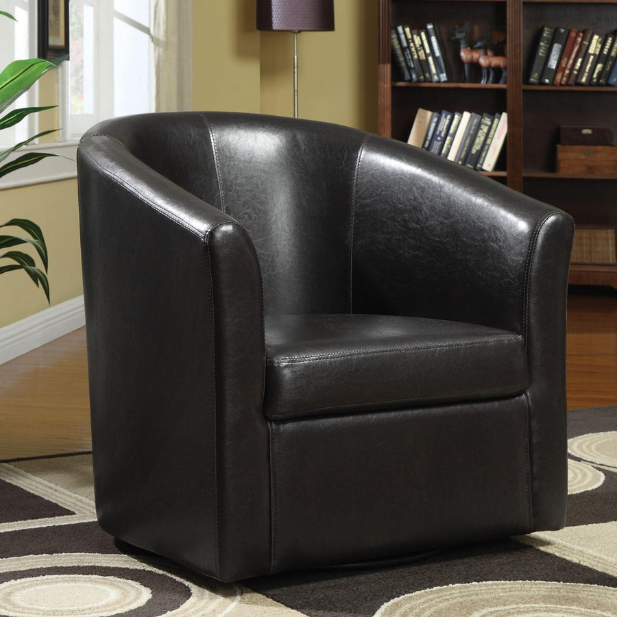 Coaster Fine Furniture Casual Dark Brown Faux Leather Club Chair