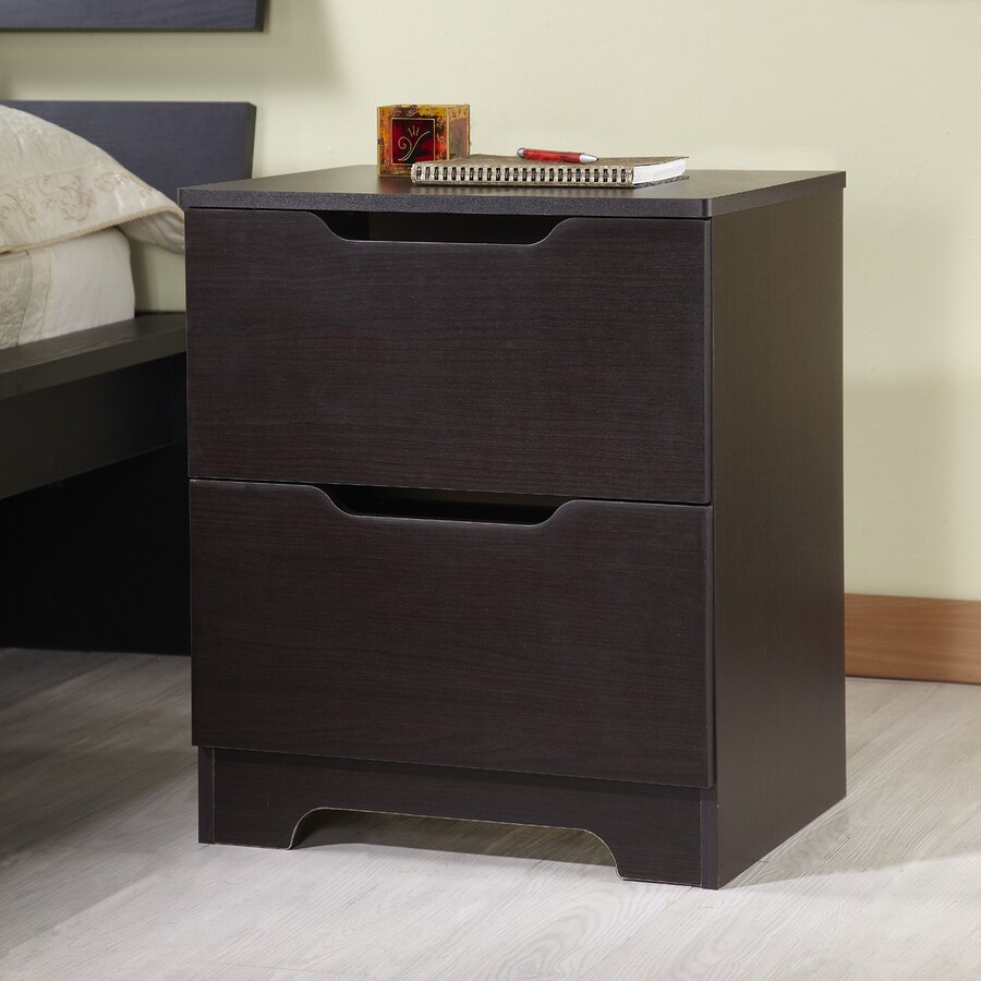Shop Enitial Lab Farrah Dark Walnut Nightstand at Lowes
