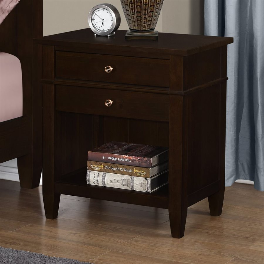 Simpli Home Carlton Tobacco Brown Pine Nightstand