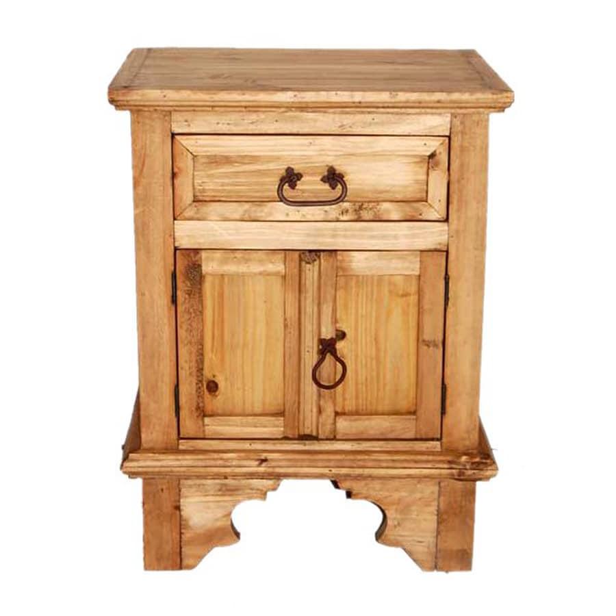 Shop million dollar rustic hacienda rustic pine nightstand for Rustic nightstands