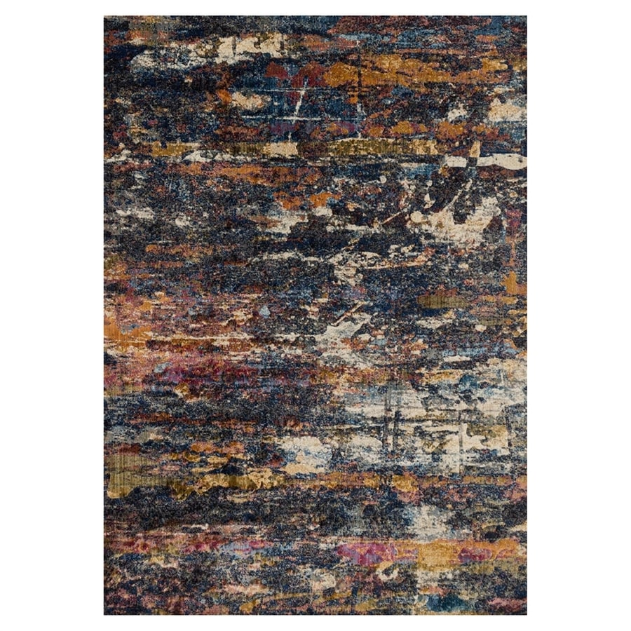 Loloi Dreamscape Midnight Rectangular Indoor Machine-made Area Rug (Common: 6 X 9; Actual: 6.58-ft W x 9.17-ft L)
