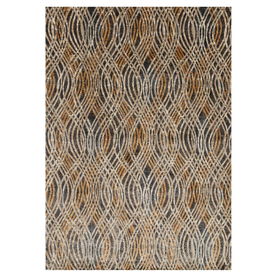 Loloi Dreamscape Charcoal/Gold Rectangular Indoor Machine-made Area Rug (Common: 6 X 9; Actual: 6.58-ft W x 9.17-ft L)