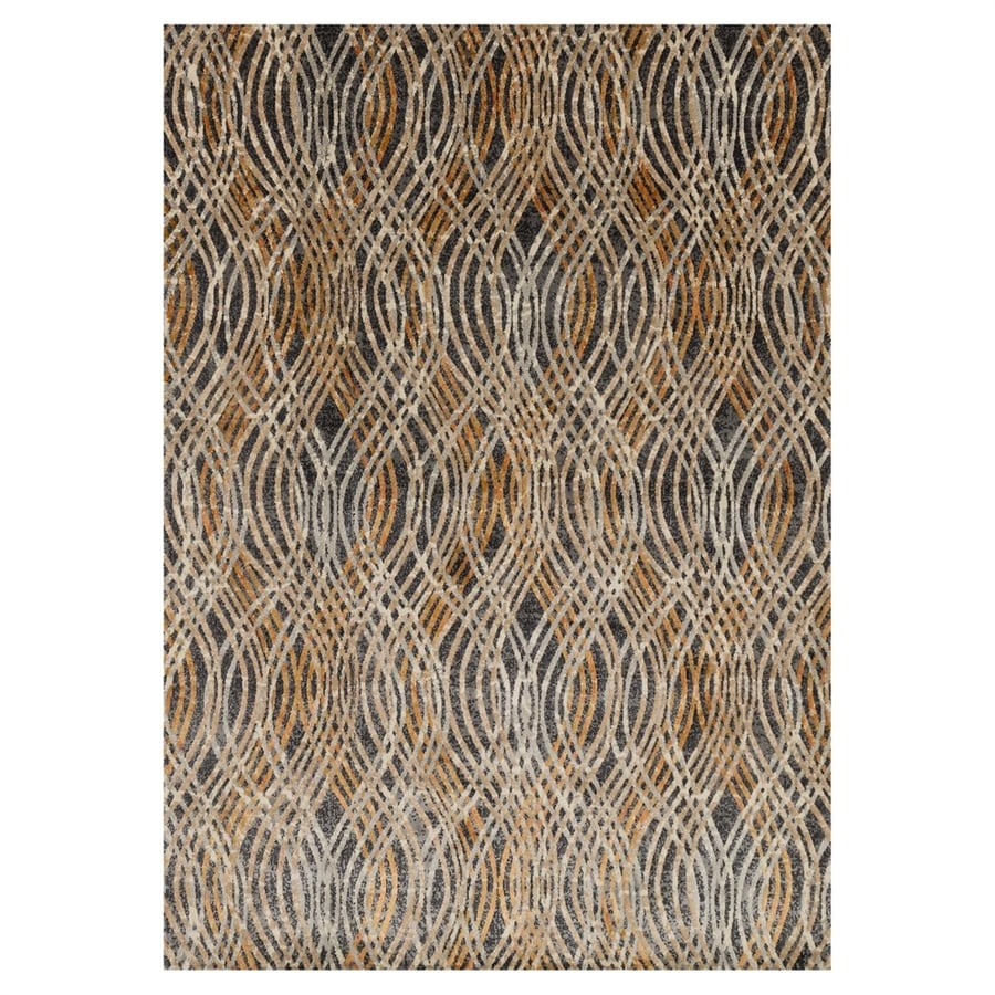 Loloi Dreamscape Charcoal/Gold Rectangular Indoor Machine-made Area Rug (Common: 8 X 11; Actual: 7.8-ft W x 11-ft L)