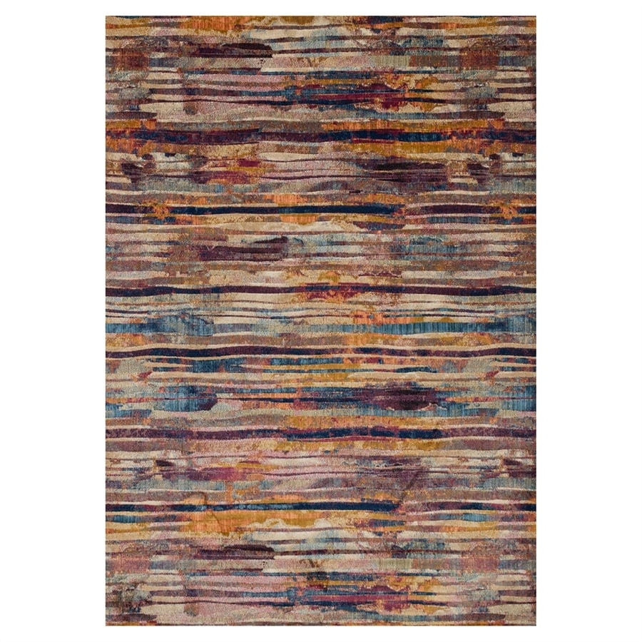 Loloi Dreamscape Raspberry Rectangular Indoor Machine-made Area Rug (Common: 5 X 7; Actual: 5-ft W x 7.5-ft L)
