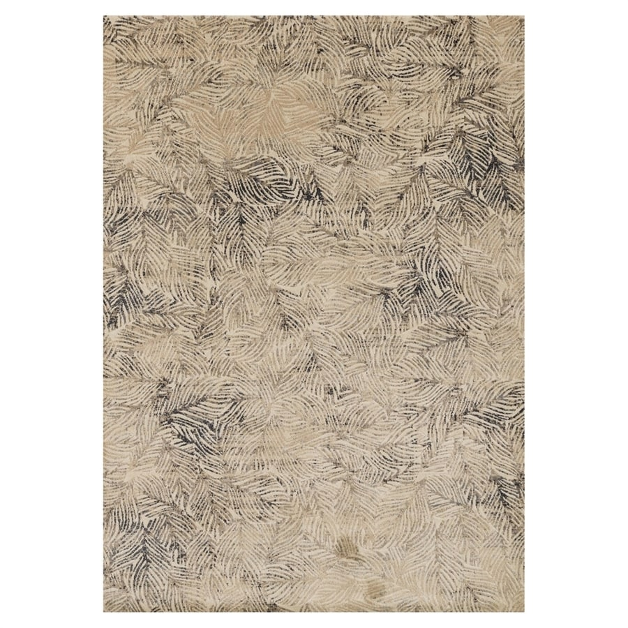 Loloi Dreamscape Charcoal/beige Rectangular Indoor Machine-made Coastal Area Rug (Common: 5 X 7; Actual: 5-ft W x 7.5-ft L)
