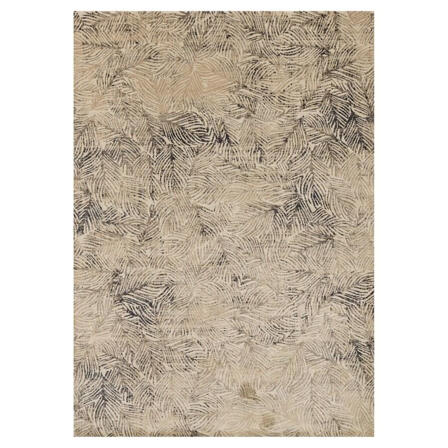 Loloi Dreamscape Charcoal/beige Rectangular Indoor Machine-made Coastal Area Rug (Common: 8 X 11; Actual: 7.8-ft W x 11-ft L)