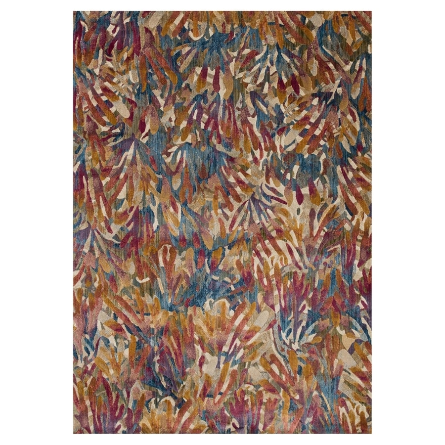 Loloi Dreamscape Tropical Rectangular Indoor Machine-made Throw Rug (Common: 2 X 3; Actual: 1.9-ft W x 3-ft L)
