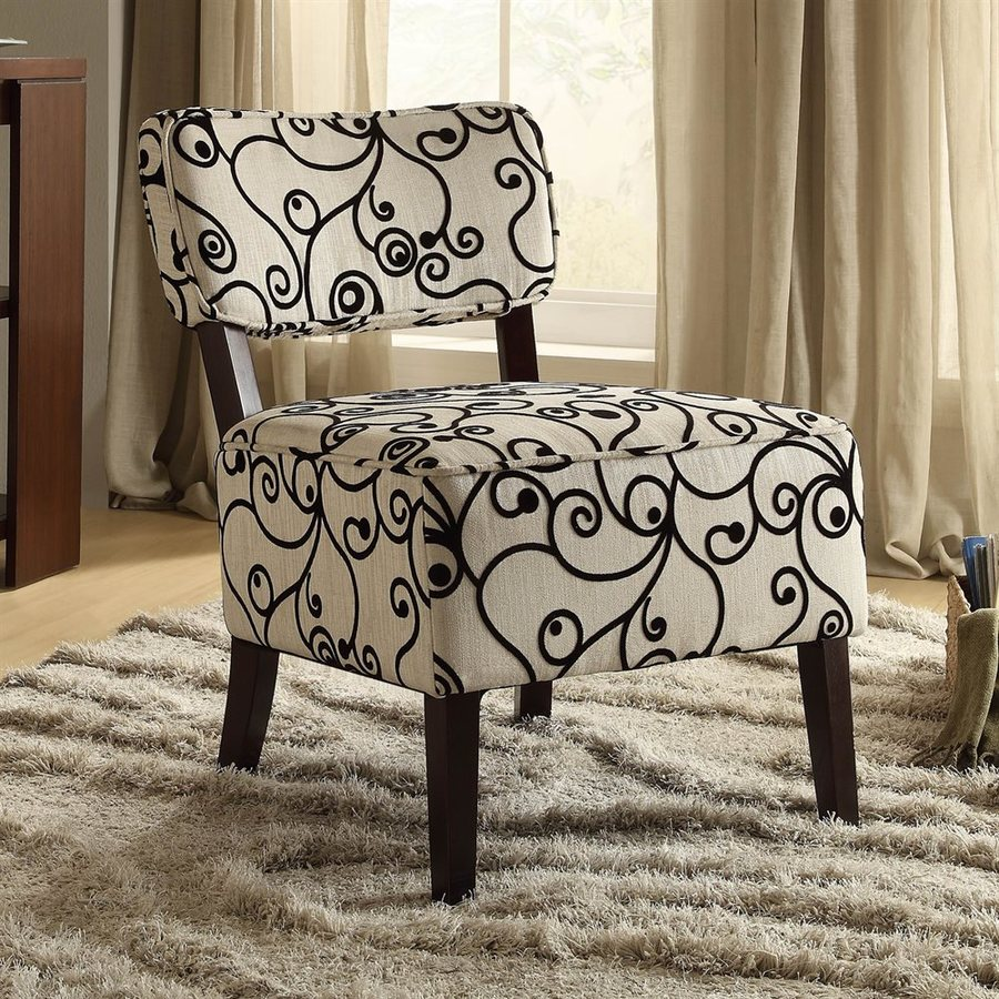 Homelegance Orson Casual Black and White Swirl Accent Chair