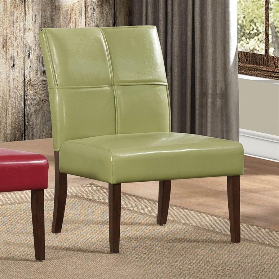 Homelegance Oriana Casual Green Vinyl Slipper Chair At