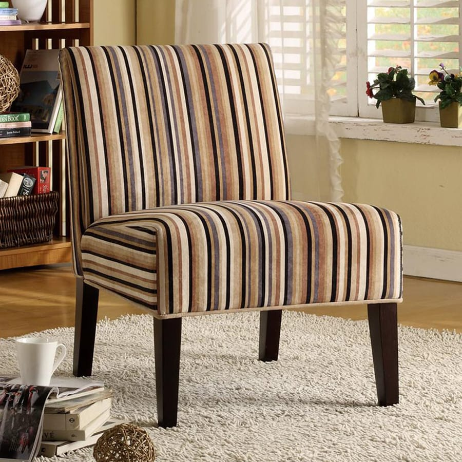 Homelegance Lifestyle Casual Multicolored Stripe Slipper Chair