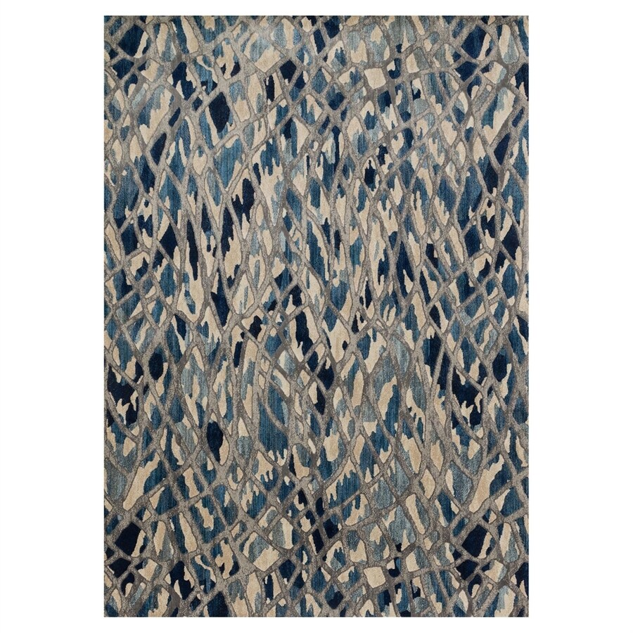 Loloi Dreamscape Blue/silver Rectangular Indoor Machine-made Throw Rug (Common: 2 X 3; Actual: 1.9-ft W x 3-ft L)