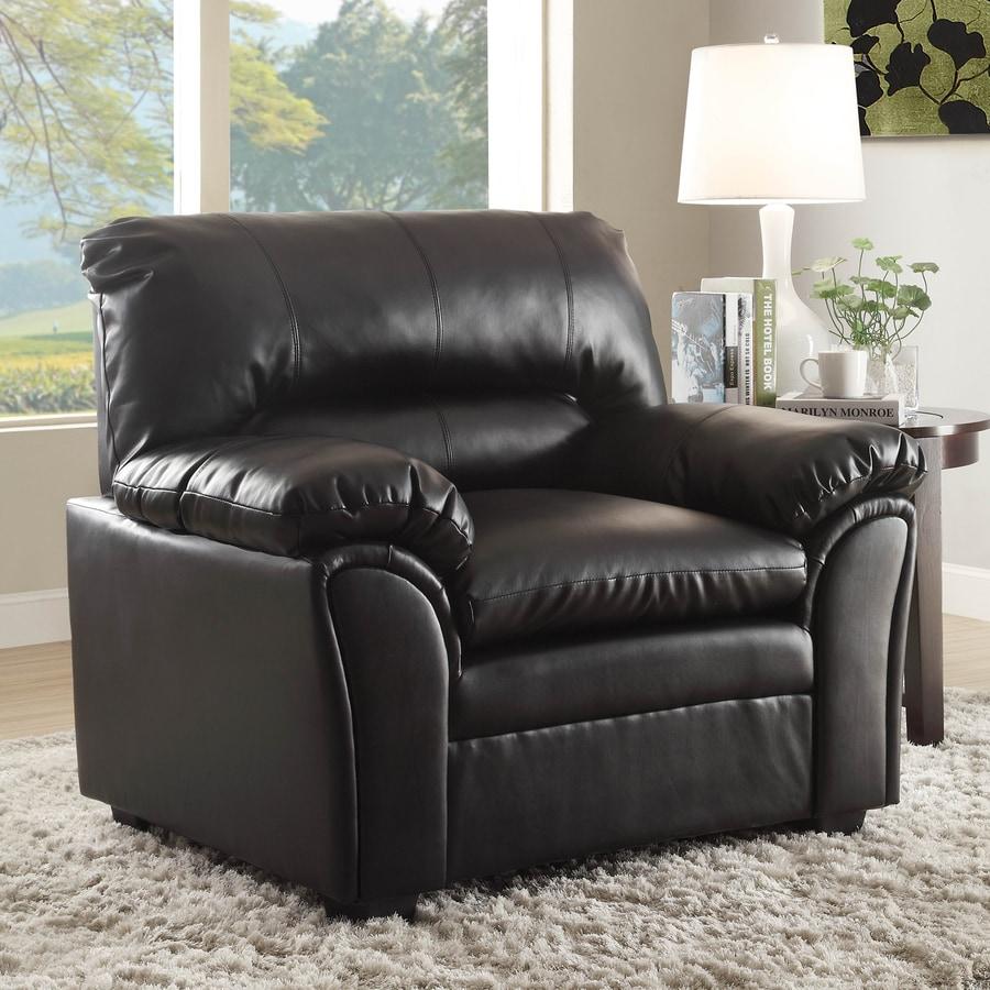 Homelegance Talon Casual Black Faux Leather Club Chair
