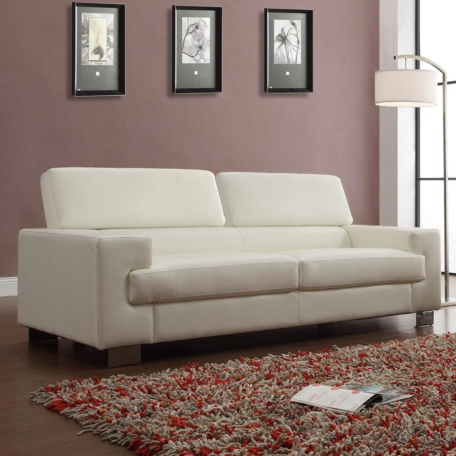 Homelegance Vernon Modern White Faux Leather Sofa