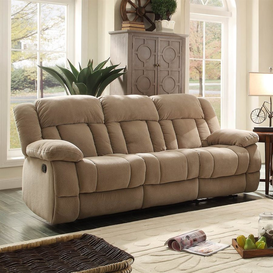 Homelegance Laurelton Casual Taupe Reclining Sofa