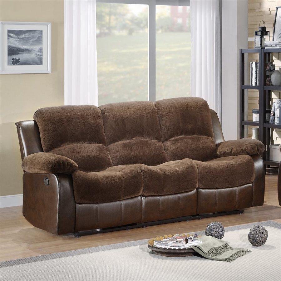 Homelegance Cranley Casual Chocolate Reclining Sofa